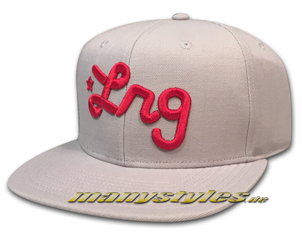 LRG Lifted Research Group LRG Script Snapback Hat Ash Grey Red