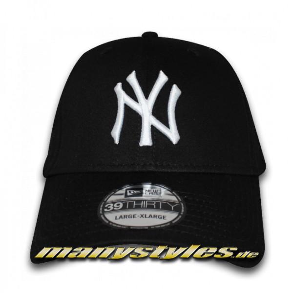 NY Yankees 39THIRTY MLB League Basic Stretch Flex Cap Navy White