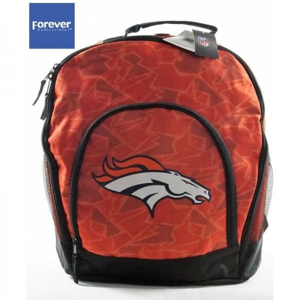 Denver Broncos NFL Team Backpack Orange Camoflage