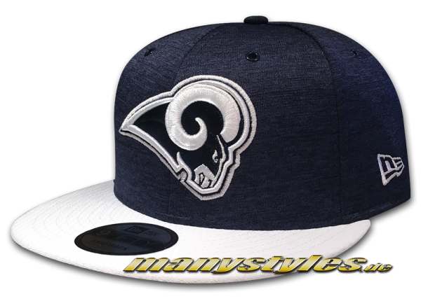 Los Angeles Rams 9FIFTY Home NFL Sideline 2018 Snapback Cap von New Era