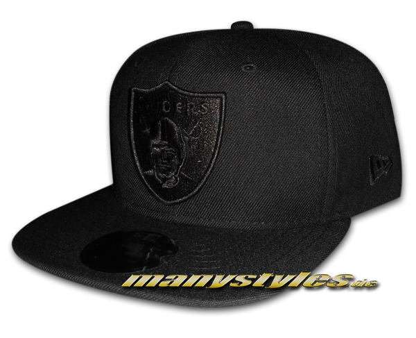 Oakland Raiders NFL 9FIFTY exclusive Snapback Cap Black on Black von New Era