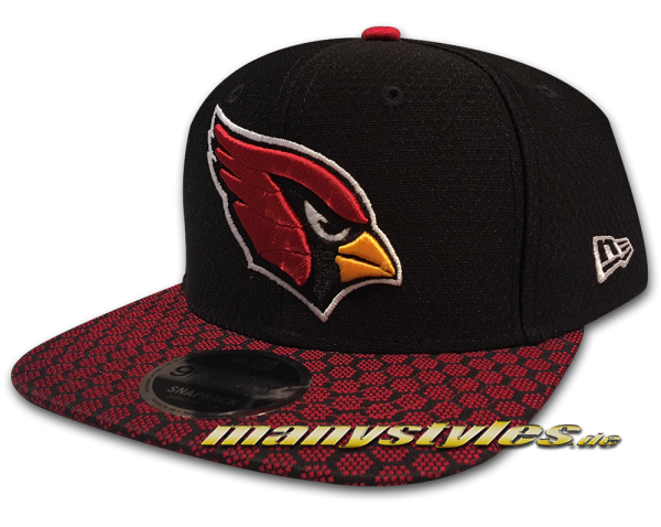 Arizona Cardinals 9FIFTY NFL Sideline 2017 On Field Snapback Cap Black Red OTC von New Era