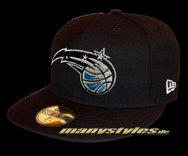 Orlando Magic 59FIFTY NBA Basic Reverse Cap Black White OTC von New Era