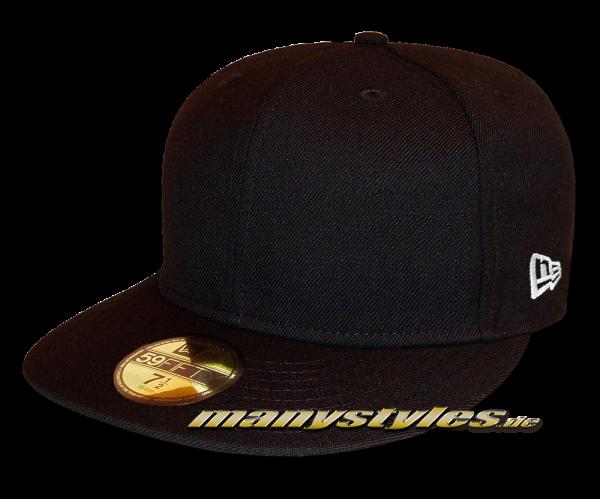 NE Originals Blank 59FIFTY Black Cap Plain without Logo von New Era