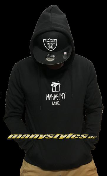 Mahagony Hooded Sweater Basic Black White