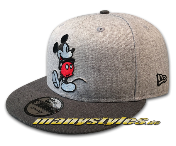 Disney Mickey Mouse New Era 9FIFTY Snapback Cap Heather Grey