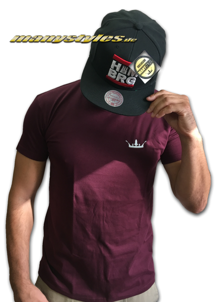 HH Manystyles Crown exlusive T-shirt Maroon White maroon wineed bordeaux