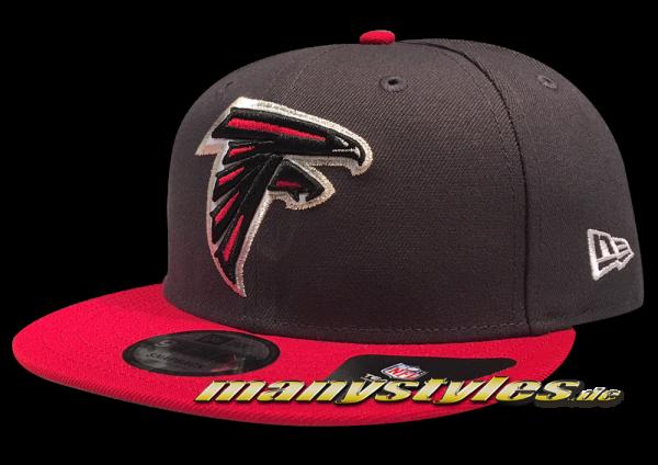 Atlanta Falcons 9FIFTY NFL Emea 950 Snapback Cap Charcoal Black White Red OTC von New Era