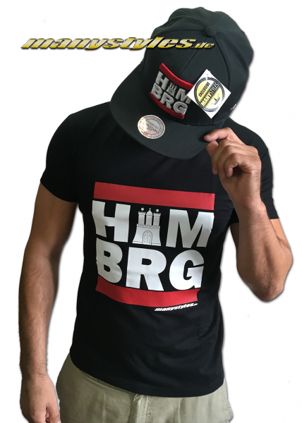 HH Run T-Shirt Hamburg manystyles exclusive special edition Black Team Color