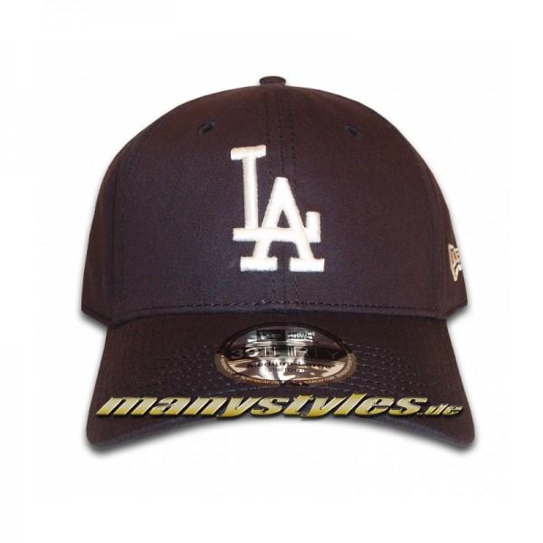 LA Dodgers 39THIRTY MLB League Basic Stretch Flex Cap Navy White