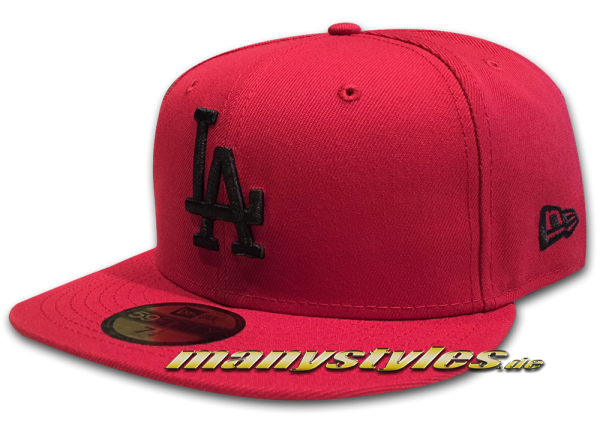 LA Dodgers MLB 59FIFTY Fitted league Essential Cap uCardinal Red Black von New Era