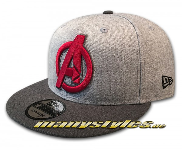 New Era Marvel Comic Avengers Endgame 9FIFTY Snapback Cap Grey Red exclusive SnapbackCap