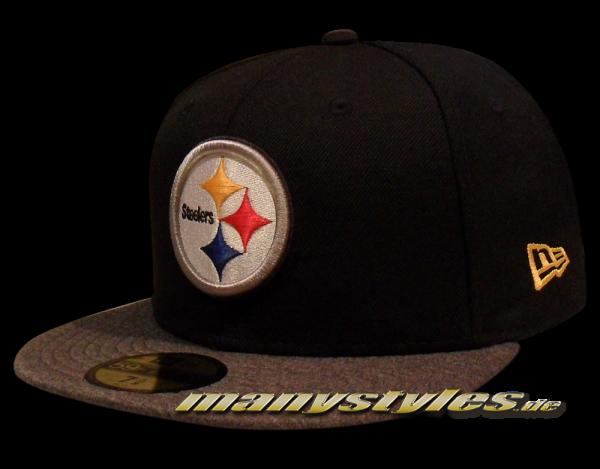Pittsburgh Steelers 59FIFTY NFL exclusive Cap Black Heather Graphite von New Era