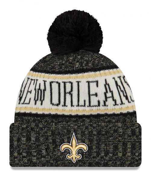 New Orleans Saints NFL Sideline 2018 Knit Bobble Beenie von New Era