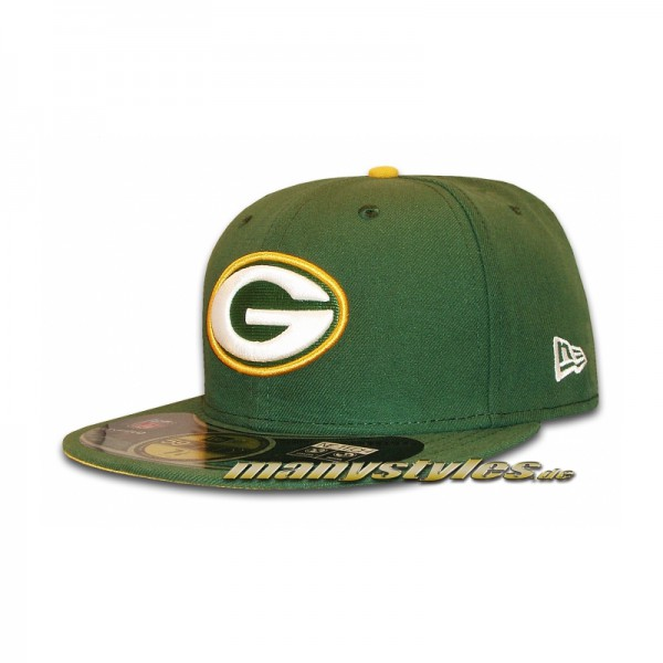 Greenbay Packers 59FIFTY NFL on field authentic Cap Green Yellow