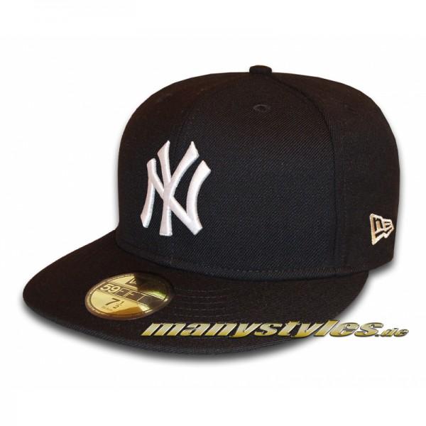 NY YANKEES New Era MLB Basic Cap Black White 59FIFTY
