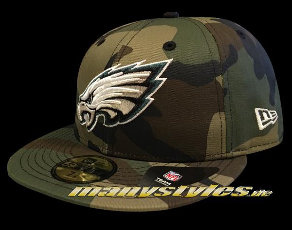 Philadelphia Eagles NFL 59FIFTY Basic Camo exclusive Cap Woodland Camouflage von New Era