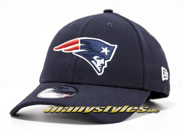 New England Patriots 9FORTY NFL The League Curved Visor Adjustable Cap Navy Original Team Color OTC von New Era