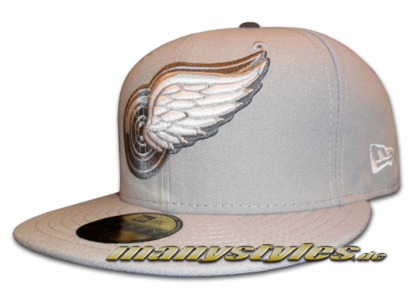 Detroit Red Wings 59FIFTY NHL Basic exclusive Cap Grey Graphite White