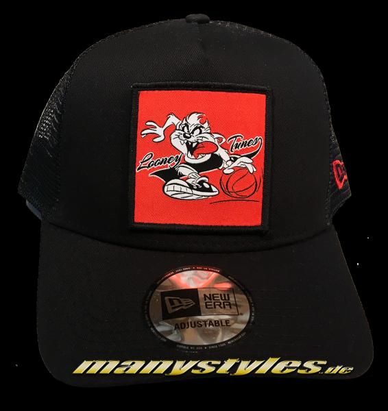 Looney Tunes Taz Trucker Adjustable Cap Black von New Era von New Era