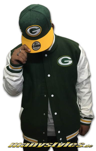 Greenbay Packers NFL Varsity Jacket Green OTC von New Era