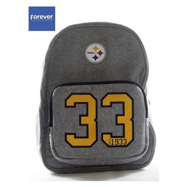 Pittsburgh Steelers NFL Team Backpack Grey