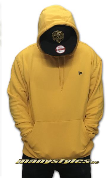 New Era Essential Oversized Hooded Yellow Black