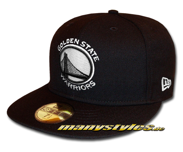 Golden State Warriors NBA 59FIFTY Fitted Cap League Essential Basic Fit2 Black White von New Era