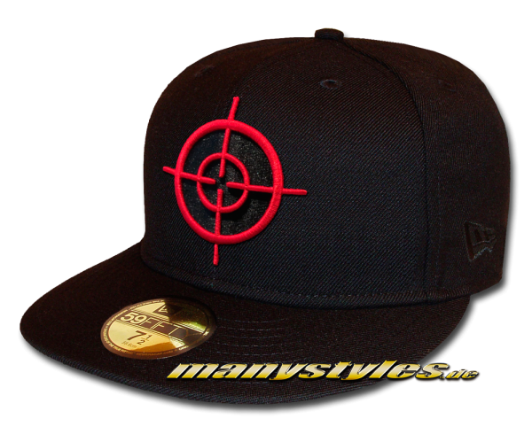 DC Comic Suicide Squad Deadshot Symbol 59FIFTY Fitted exclusive Cap Black Scarlet Red von New Era
