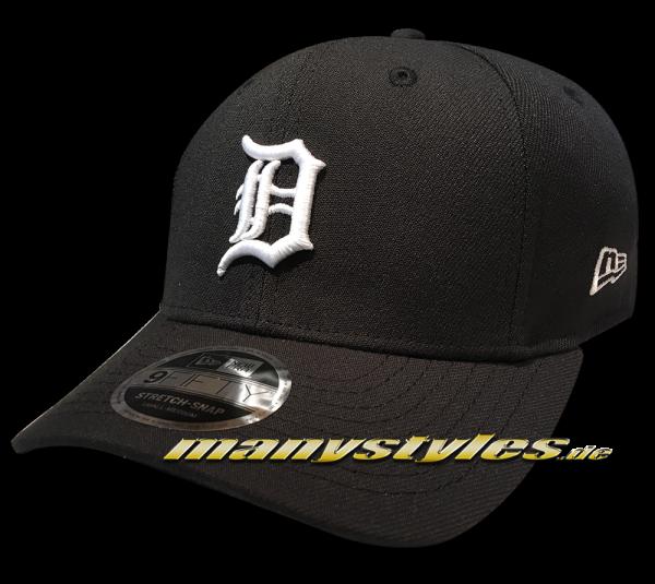 Detroit Tigers 9FIFTY MLB Stretch Fit Snapback Cap Black White von New Era