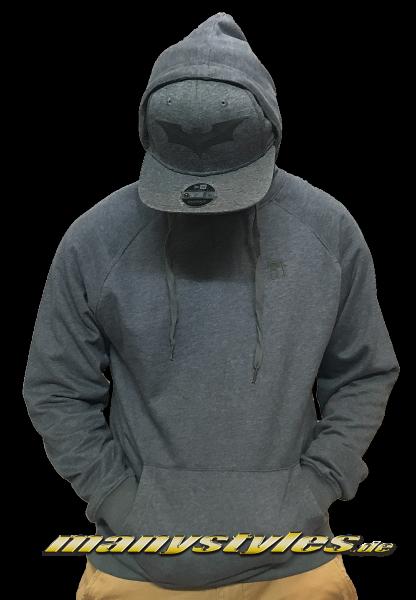 Mahagony Hooded Sweater Melange Grey