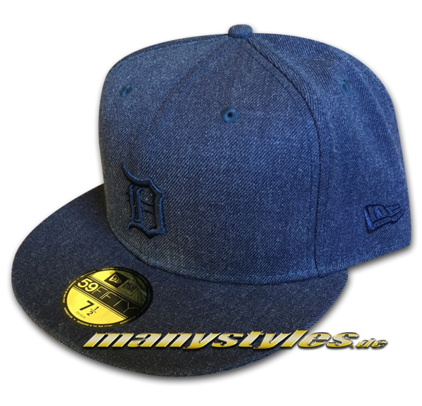 Detroit Tigers 59FIFTY Fitted Cap Total Tone 5950 Denim navy Tonal von New Era