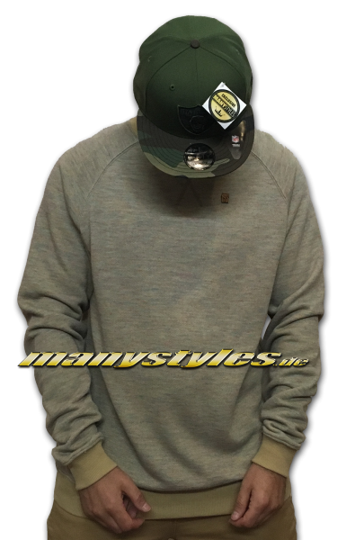 Mahagony Crewneck Sweater Khaki Brown