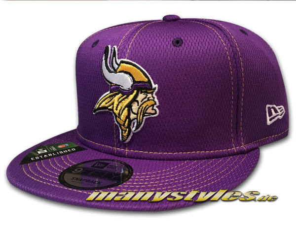 Minnessota Vikings 9FIFTY NFL19 SL RD 950 Snapback Cap OTC Purple Yellow von New Era