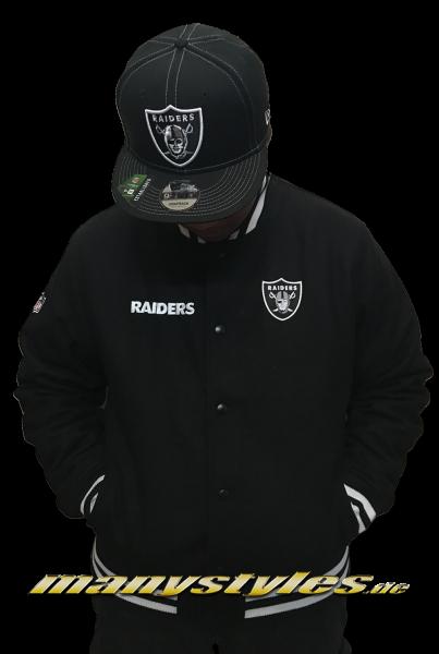 Oakland Raiders NFL Varsity Jacket Black White OTC von New Era