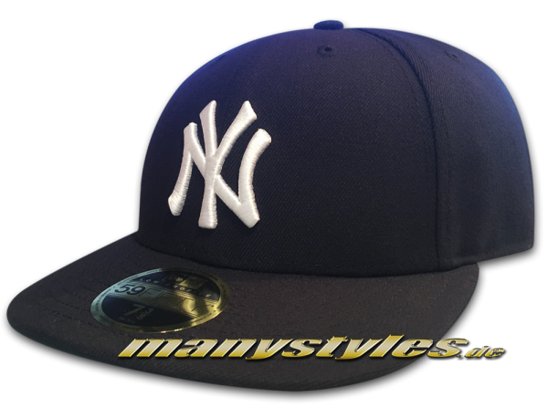 NY Yankees MLB LC Authentic Performance Low Profile Cap Curved Visor Navy LP Low Profile Cap von New Era
