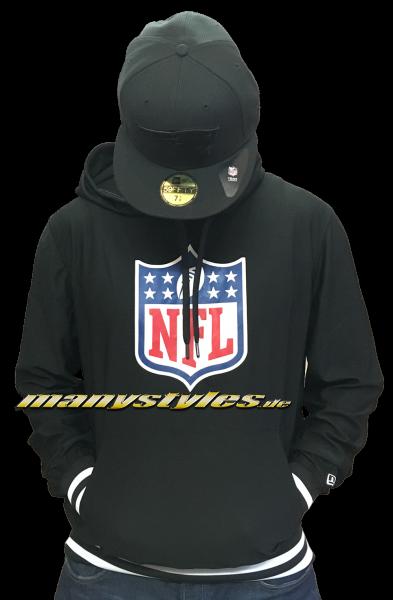 NFL Shield Team Logo Hooded Black von New Era