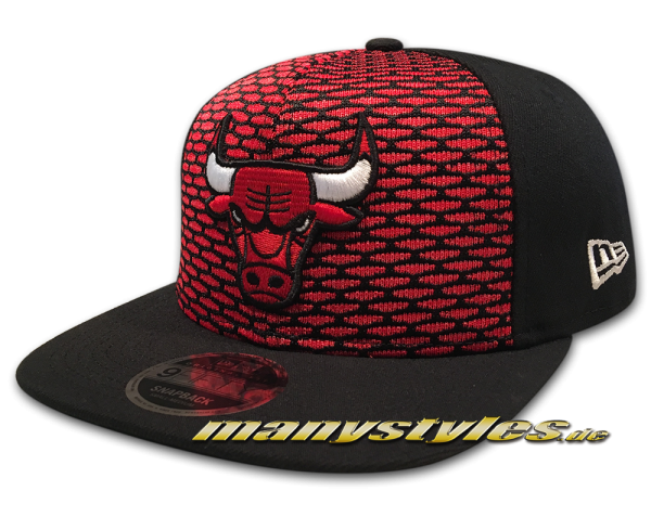 New Era Chicago Bulls 9FIFTY NBA Crown Knit OriginalFit Snapback Cap Black Red White OTC Original Team Color