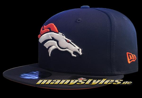 Denver Broncos 9FIFTY NFL Team Classic Snap Snapback Cap OTC Original Team Color von New Era