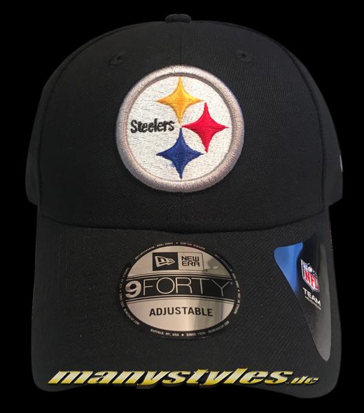 Pittsburgh Steelers NFL 9Forty Cuved Visor Cap Black Yellow original Team Color OTC Curved Visor 9Forty Adjustable Cap von New Era