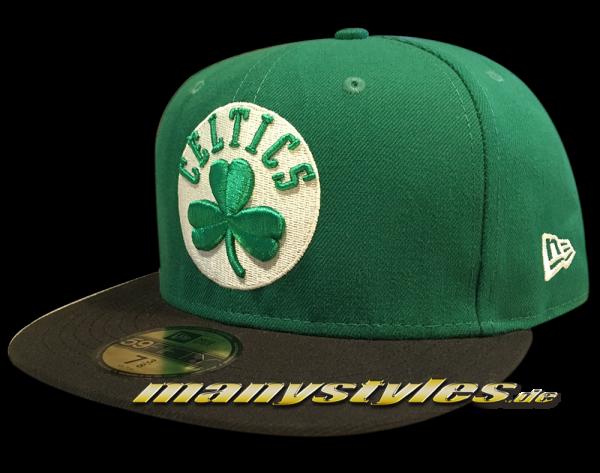 Boston Celtics 59FIFTY Fitted Caps NBA Basic Cap Green Black White OTC Original Team Color von New Era