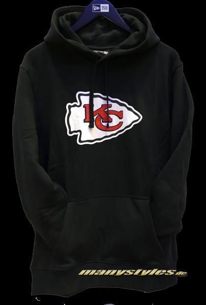 Kansas City Chiefs NFL PO Hood Hooded Sweater Black Official Team Color von New Era