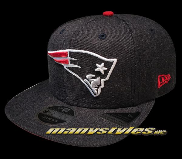 New England Patriots 9FIFTY NFL Heathered Hype OF Original Fit Snapback Cap Dark Original Official Team Color OTC von New Era