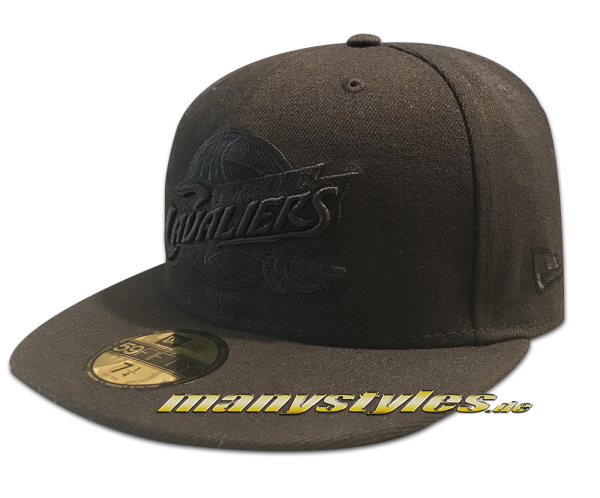 Cleveland Cavaliers NBA 59FIFTY BoB Black on Black Edition von New Era