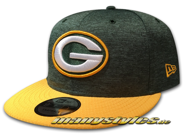 Greenbay Packers 9FIFTY Home NFL Sideline 2018 Snapback Cap von New Era
