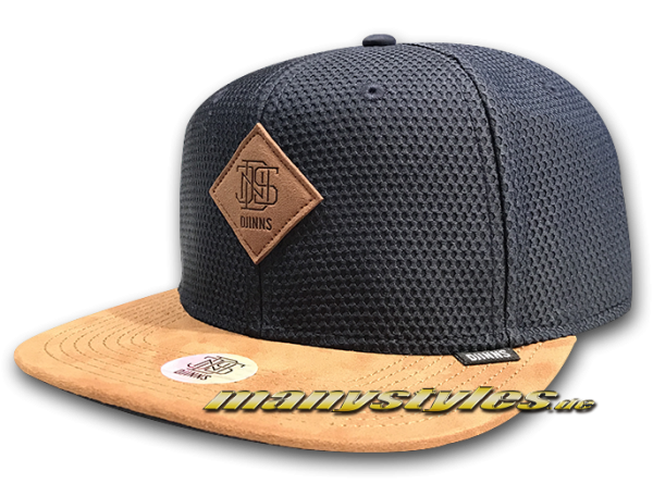 Djinns Honey Knit Snapback Cap Navy Brown