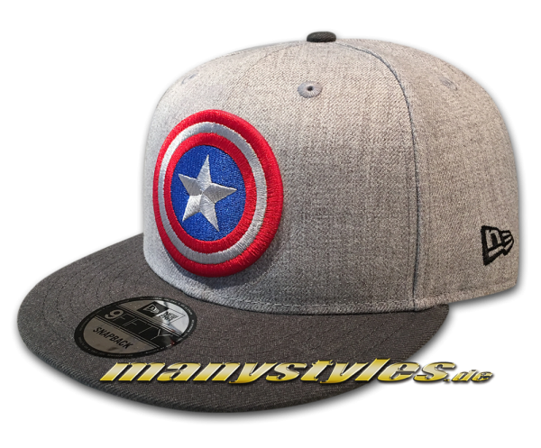 Marvel Comics Captain America 9FIFTY Snapback Cap Heather Grey