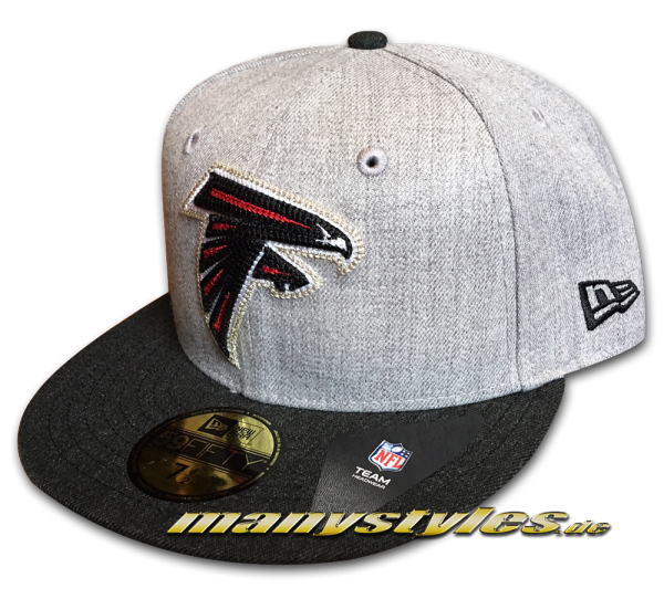 Atlanta Falcons 59FIFTY NFL Fitted Cap Heather Crsp Fit OTC Black Red White von New Era