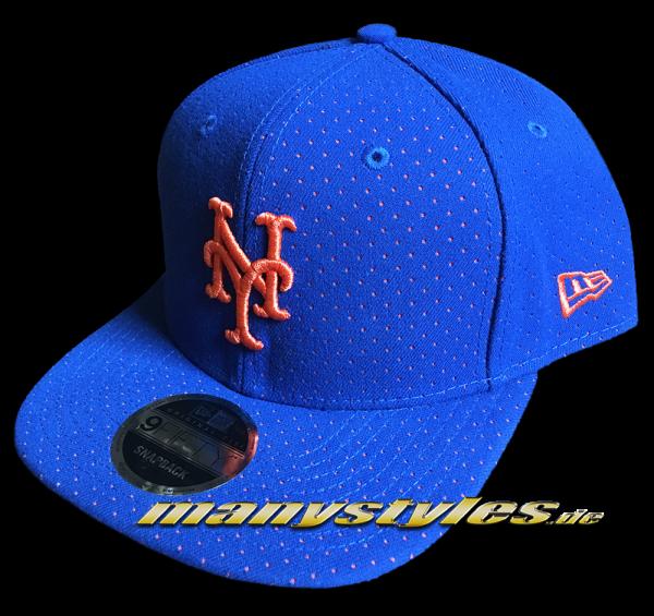 NY Mets 9FIFTY OF Snapback Cap Color Peek Original Fit Snapback Cap Royal Orange OTC von New Era