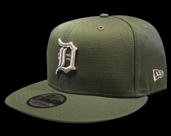 Detroit Tigers MLB 9FIFTY League Essential Snapback Cap Olive Tonal von New Era